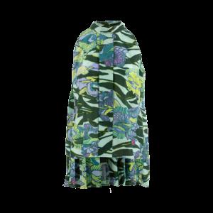 Camicia top plissé cotone