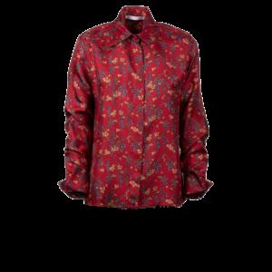 Floral shirt in pure silk - still
