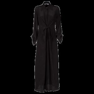 Long dress in silk crepe de chine - still