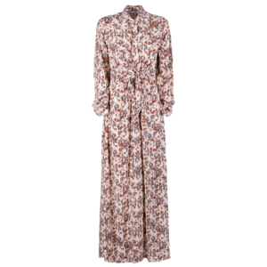 Long floral dress in pure viscose - still