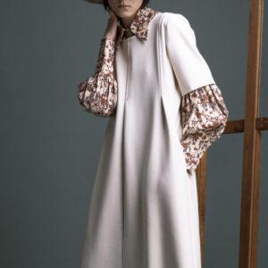 Midi dress in punto milano - ivory