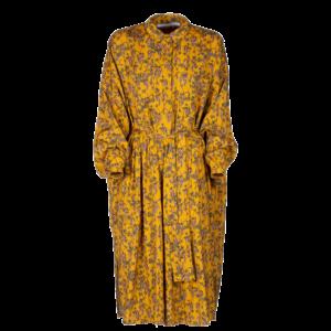 Midi floral dress in pure viscose - still