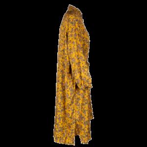 Midi floral dress in pure viscose - still side