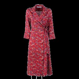 Midi wrap dress in pure viscose - still