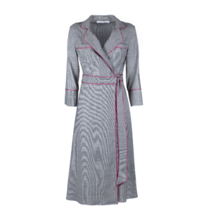 Midi wrap dress in pure wool - still