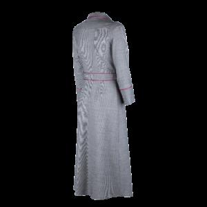 Midi wrap dress in pure wool - still sight