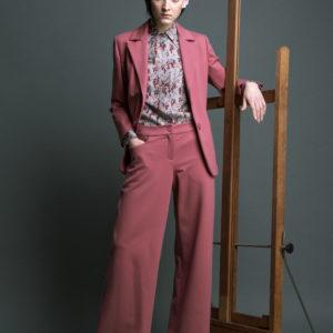Jersey knitted viscose palazzo pants