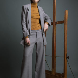 Palazzo pants in pure Alpaca and Merino Wool