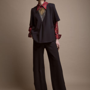 Palazzo pants in pure wool